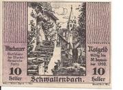 10 Heller (Wachau - Schwallenbach) – obverse