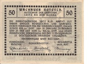 50 Heller (Wachau - Dürnstein) -  reverse