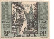 50 Heller (Wachau - Schwallenbach) – obverse