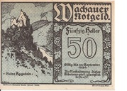 50 Heller (Wachau - Aggstein) – obverse