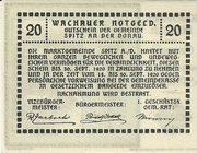 20 Heller (Wachau) – reverse
