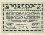 20 Heller (Spitz an der Donau) – reverse