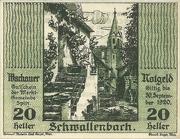 20 Heller 1920 Gutschein – obverse