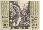 20 Heller (Wachau - Schwallenbach) – obverse