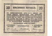 20 Heller (Wachau - Schwallenbach) -  reverse