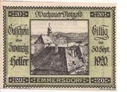 20 Heller (Wachau - Emmersdorf) -  obverse