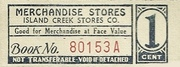 Island Creek Stores Company 1 Cent – obverse