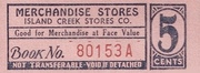 Island Creek Stores Company 6 Cents – obverse