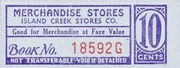 Island Creek Stores Company 10 Cents – obverse