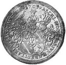 1 Thaler - Franz Ignaz – reverse