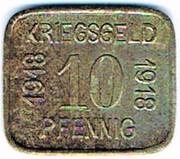 10 Pfennig - Sprottau – reverse
