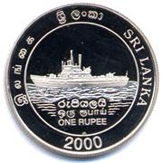 1 Rupee (50 Years of Sri Lankan Navy) – obverse