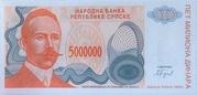 5,000,000 Dinara (Republika Srpska) – obverse