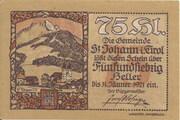 75 Heller (St. Johann in Tirol) -  obverse