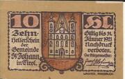 10 Heller (St. Johann in Tirol) – obverse