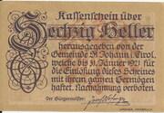 60 Heller (St. Johann in Tirol) – obverse