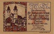 75 Heller (St. Johann in Tirol) – obverse