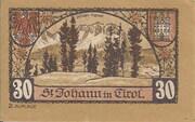 30 Heller (St. Johann in Tirol) – reverse