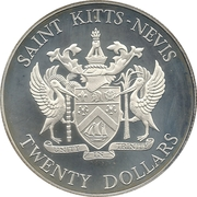 20 Dollars - Elizabeth II (Battle of the Saints; Silver Proof Issue) – obverse