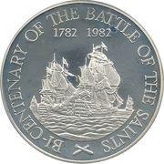 20 Dollars - Elizabeth II (Battle of the Saints; Silver Proof Issue) – reverse