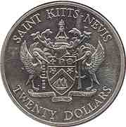 20 Dollars - Elizabeth II (Battle of the Saints) – obverse