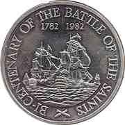 20 Dollars - Elizabeth II (Battle of the Saints) – reverse