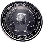 2 Dollars - Elizabeth II (Brown Pelican) -  obverse