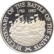 10 Dollars - Elizabeth II (Battle of the Saints; Silver Proof Issue) – reverse