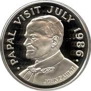 5 Dollars - Elizabeth II (Papal Visit; Silver Proof Issue) – reverse