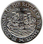 10 Dollars - Elizabeth II (Battle of the Saints) – reverse