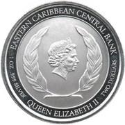 2 Dollars - Elizabeth II (Pink Flaming) – obverse