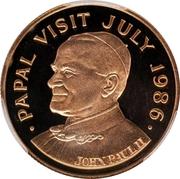 500 Dollars - Elizabeth II (Papal Visit) – reverse