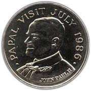 5 Dollars - Elizabeth II (Papal Visit) – reverse