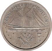 1 Franc (Essai) – reverse
