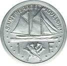 1 Franc (Piefort Essai) – reverse