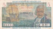 5 francs - Bougainville Type 1946 – obverse