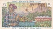 5 francs - Bougainville Type 1946 – reverse
