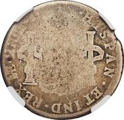 4 ½ Bits (Counterstamp on Peru 2 Reales KM# 76) – reverse