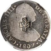 4 ½ Bits (Counterstamp on Peru 2 Reales KM# 95) – obverse