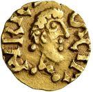 Tremissis - Bertemindus (St. Maurice-d'Agaume, Merovingian Mint) – obverse