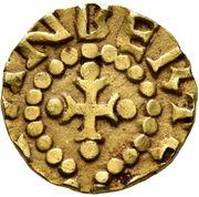 Tremissis - Bertemindus (St. Maurice-d'Agaume, Merovingian Mint) – reverse