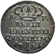 1 Quattrino - Ferdinand IV – reverse