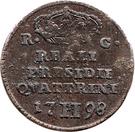 2 Quattrini - Ferdinand IV – reverse