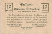 10 Heller (Stefanshart) – reverse
