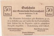 50 Heller (Stefanshart) – reverse