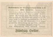 50 Heller (Stein an der Donau) -  reverse
