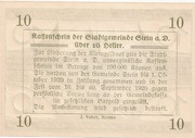 10 Heller (Stein an der Donau) -  reverse