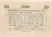 20 Heller (Stein an der Donau) – reverse