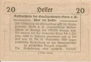 20 Heller (Stein an der Donau) -  reverse