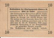 10 Heller (Stein an der Donau) – reverse